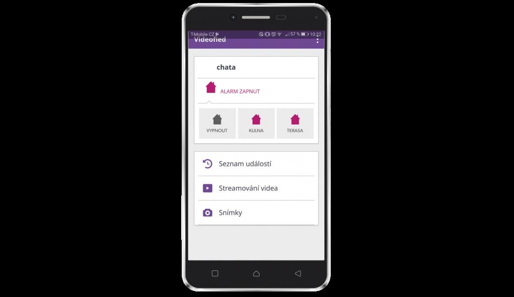 Mobilní aplikace Videofied