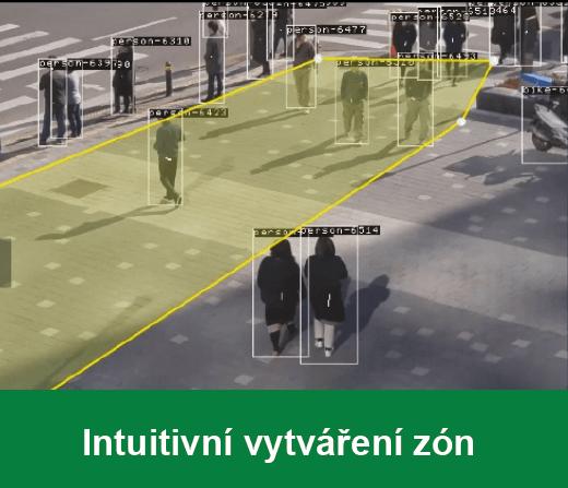 Intuitivní vytváření zón